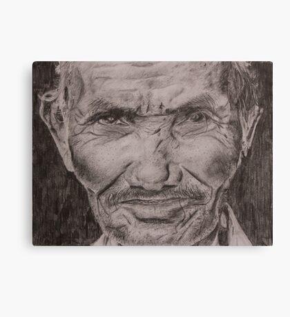 Old Man pencil drawing Canvas Print