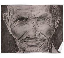 Old Man pencil drawing Poster
