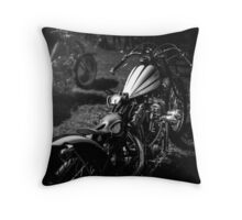 Classic Custom Motorcycles Throw Pillow