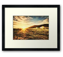 The sun is going down... Framed Print