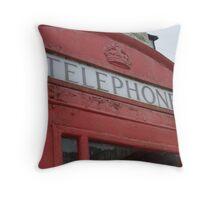 Big Red Phonebox Throw Pillow