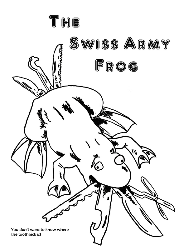 Swiss Army Frog by jcwdesigns