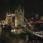 Tower Bridge, at night by Jayne Le Mee