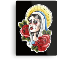 Our Lady Neotraditional Tattoo Painting Metal Print