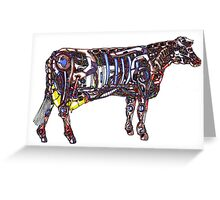 Mech Cow Greeting Card