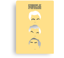 Eyebrows of Chancellors of the Exchequer Canvas Print