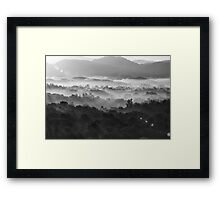 Misty morning in Black and white Framed Print