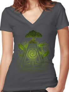 Tribal Earth. Women's Fitted V-Neck T-Shirt
