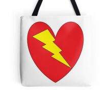 charged heart Tote Bag