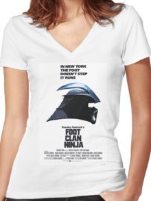 Stanley Kubrick's Foot Clan Ninja Women's Fitted V-Neck T-Shirt