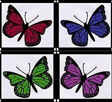4 Butterflys by Kyleacharisse