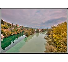 The Arve meeting the Rhône Photographic Print