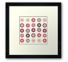 Flowers patch Framed Print