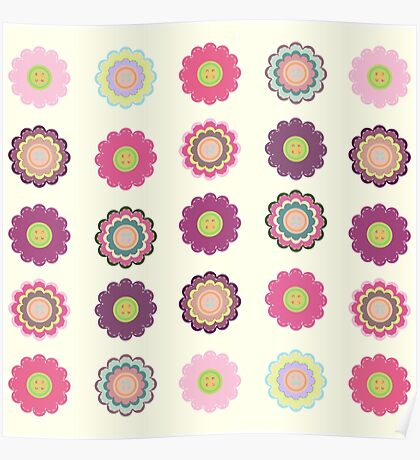Flowers patch Poster