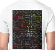 The Machine in Progress version 4 w black background Unisex T-Shirt