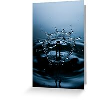Water Drop Photography - Water in Time p04 Greeting Card
