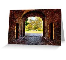 Kalemegdan Fortress Gate Belgrade Greeting Card