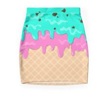 Ice Cream mint chocolate and raspberry Pencil Skirt