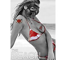 gass mask girl bikini summer sexy hot fresh blond swag dope trend trending satan spring nice fresh girl woman teen birthday cake panties wings devil hipster Nightlife girl eye woman wedding party Photographic Print
