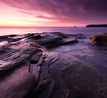 SUNRISE AT SEATON SLUICE by STEVE  BOOTE