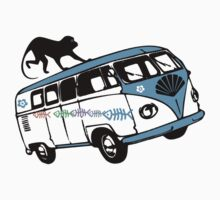There's a Monkey on My Camper Van T-Shirt by simpsonvisuals