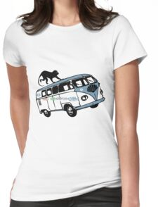There's a Monkey on My Camper Van T-Shirt Womens Fitted T-Shirt