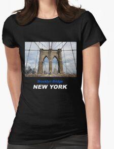 Brooklyn Bridge, Manhattan, New York, USA Womens Fitted T-Shirt