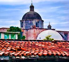 Rooftops from the Villa Hermosa by John Corney