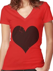 HEART! Women's Fitted V-Neck T-Shirt