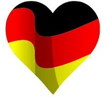 German Flag Heart by parakeetart
