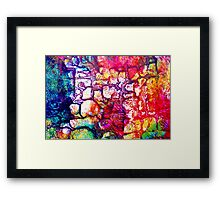 One brick at a time Framed Print