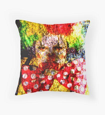 Clown Rock Throw Pillow