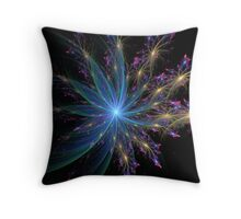 spiral in blue Throw Pillow