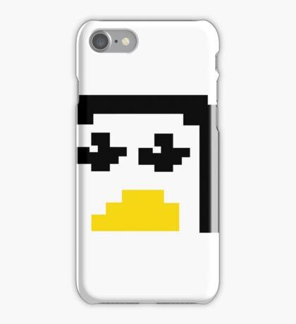 LINUX TUX PENGUIN PIXEL FACE  iPhone Case/Skin