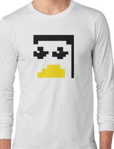 LINUX TUX PENGUIN PIXEL FACE  Long Sleeve T-Shirt