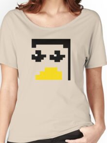 LINUX TUX PENGUIN PIXEL FACE  Women's Relaxed Fit T-Shirt