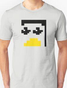 LINUX TUX PENGUIN PIXEL FACE  Unisex T-Shirt