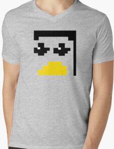 LINUX TUX PENGUIN PIXEL FACE  Mens V-Neck T-Shirt