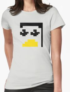 LINUX TUX PENGUIN PIXEL FACE  Womens Fitted T-Shirt