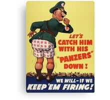 WW2 Vintage Propaganda Poster - Retro War Canvas Print