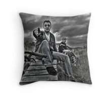 To The Dark Side Throw Pillow