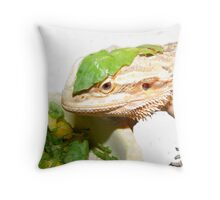 Something else on my head! Throw Pillow