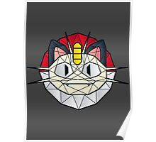 Meowth - Polygon Stainglass Collection Poster