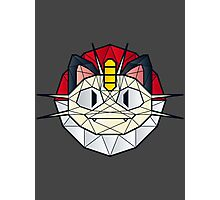 Meowth - Polygon Stainglass Collection Photographic Print