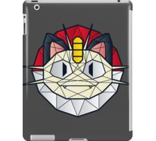 Meowth - Polygon Stainglass Collection iPad Case/Skin