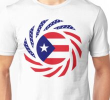 Puerto Rican American Multinational Patriot Flag Series Unisex T-Shirt