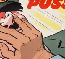 """WW2 War Poster - Vintage Propaganda Poster """"Putsch in the puss"""" Sticker"""