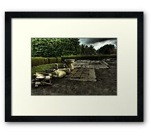 Draughty Toilet Framed Print
