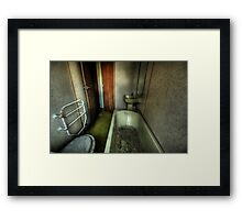 Bathroom, barely. Framed Print