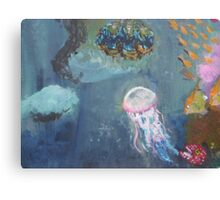Jellyfish and co. Canvas Print